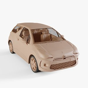 3D model Citroen DS3 2011