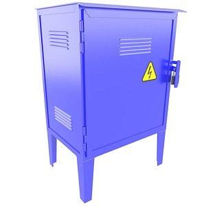 Industrial Electrical Enclosure Cabinet 3D Model 34 model