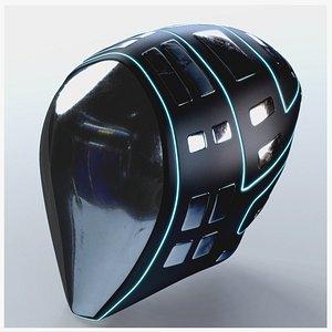 3D Helmet Futuristic Sci-Fi PBR model