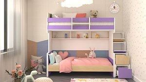 kids room design scene 3D