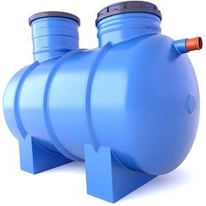3D Underground Water Septic Tank 7