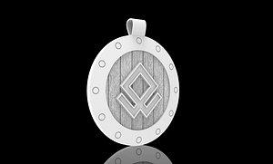 odal rune shield 3D model