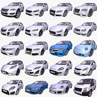 Mega Pack of 20 Generic European cars - 2