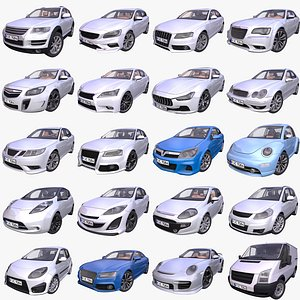 car pack european 3D model