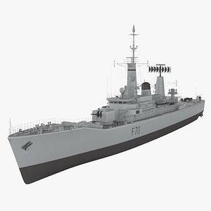 Leander-class frigate 3D model