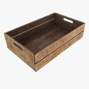wood crate 3D model