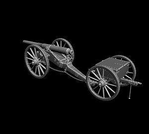 12 pounder field 3D model