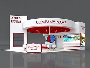 3D 10  Exhibition Stand Stall Fair 3D Model Collection