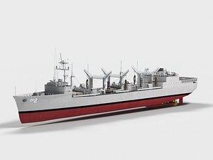USS Milwaukee AOR-2 3D model