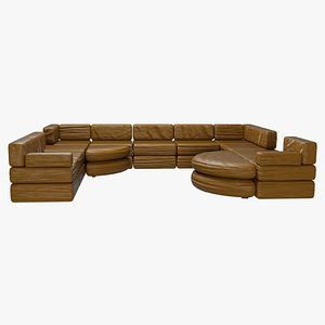 3D couch sectional set