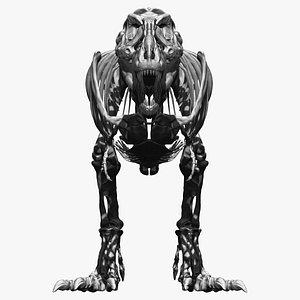 3D adult tyrannosaurus rex complete