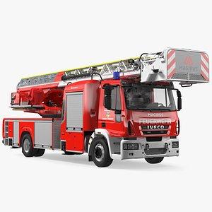 3D model Iveco FF160 Magirus Fire Truck