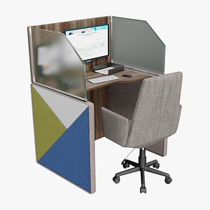 3D center workplace 2 model
