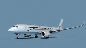 Bombardier CS100 Corporate 3 3D model
