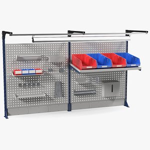 3D garage tool rack furniture