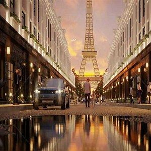 Paris Eiffel Tower City  Sense 3D model