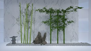 3D bamboo tree model