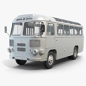 3D mid-poly bus paz-672 model