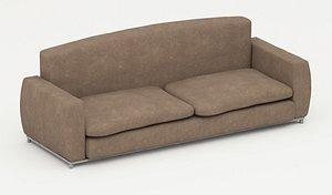 3D 2 Seat sofa model