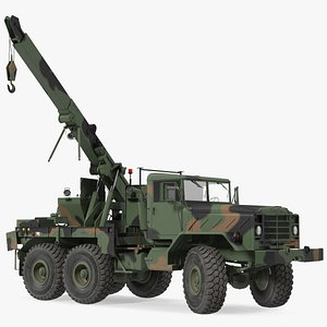 M939 Military Wrecker Green Rigged 3D model