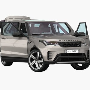 Land Rover Discovery 2022 Opening Doors and Trunk 3D model