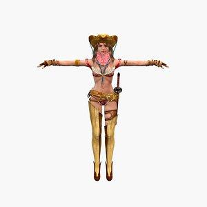 3D Girl musketeer