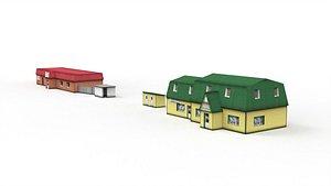 Roadside motel 3D model