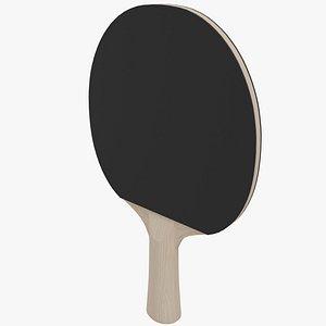 3D Ping Pong Paddle Black