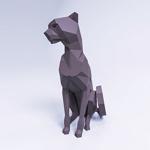 lowpolypanthermodel pantherforpapercraft 3D model
