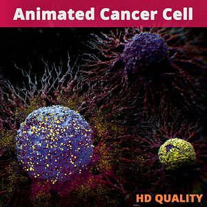 Cancer Cells Animated 3D model