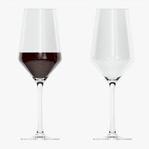 Wine glass 01 3D model