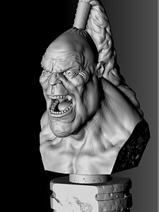 3D model Angry Goro.Bust.3D printable.STL.