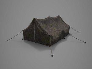 3D tent camp model