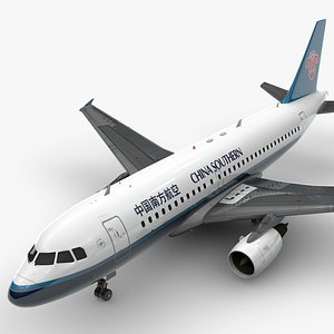 Airbus A319-100 CHINA Southern Airlines L1370 3D model