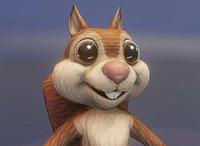 Cartoon Squirrel Animated 3D Model