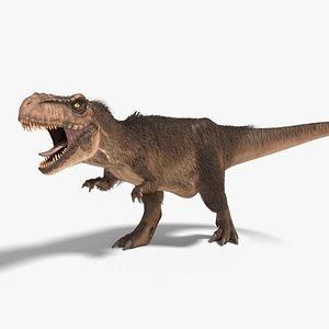 tyrannosaurus rex fur rigged model