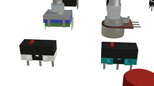 3D model potentiometers switches