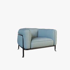 sofa v41 single 3D model