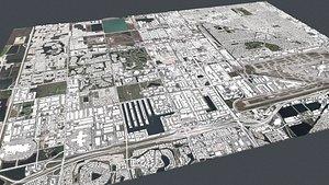 Cityscape Miami Florida USA 3D model