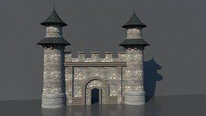 castle gate 3D