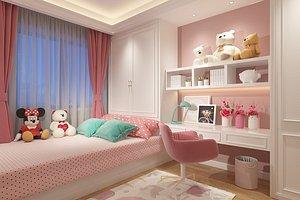 Bedroom Postmodern Bedroom Master Bedroom Simplified Bedroom Deluxe Bedroom European Bedroom Childre model