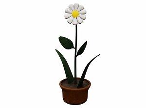 3D Cartoon Flower