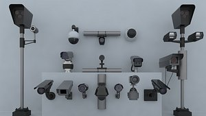 Surveillance camera 3D model
