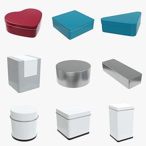 Metal tin can box PBR 3D model