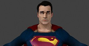 3D bvs superman - model