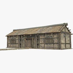 3D asian folk houses