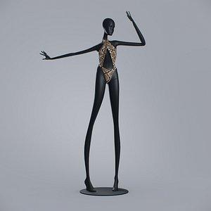 Woman Swimsuit 7Sins Crossed Cutout Halter One-piece 3D model