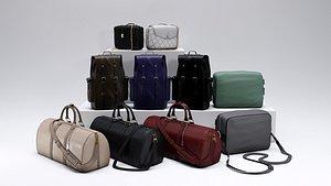 bag purse backpack 3D model