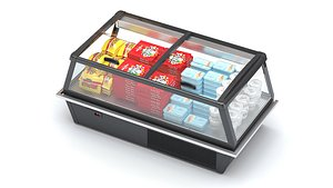 3D Refrigerated Display Case