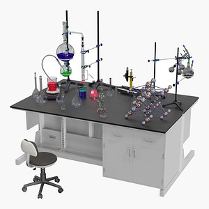 3D Small Laboratory Island model